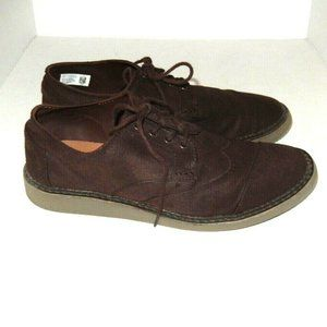 Toms Wingtip Oxfords Cap Toe Derby Shoes 10